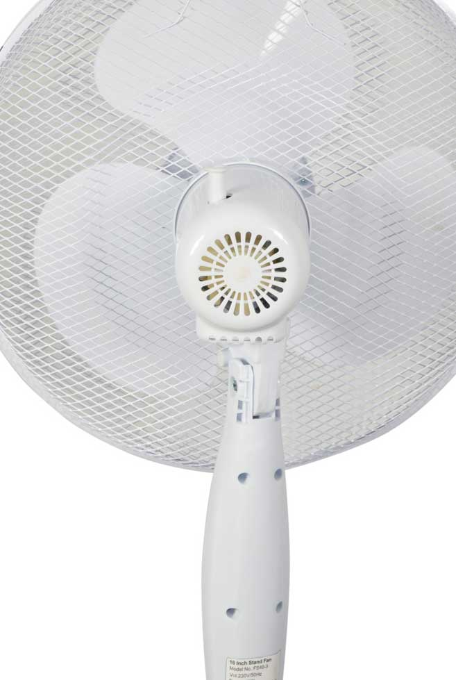 "Mercury 16"" Pedestal Fan 3 Speed Rear"