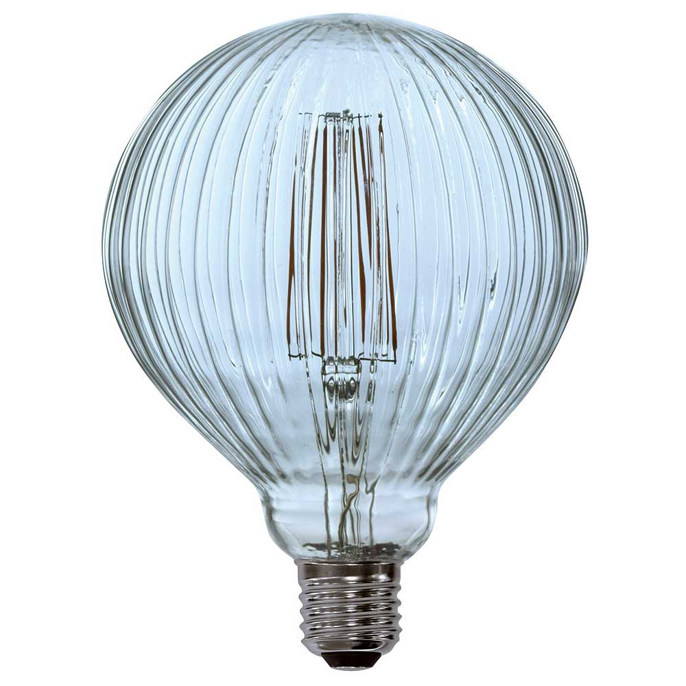 Lyyt 4W ES/E27 G125 Ribbed LED Spiral Filament Dimmable Lamp