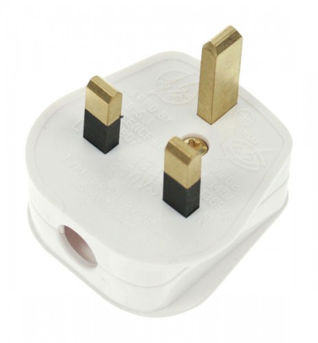 13 Amp Fused 3 Pin Plug Top