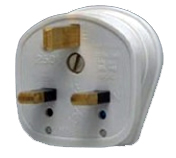 MK 646WHI 13 Amp Fused 3 Pin Safety Plug Top