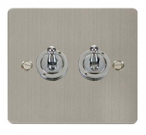 Scolmore Click Define FPSS422 10AX 2 Gang 2 Way Toggle Switch