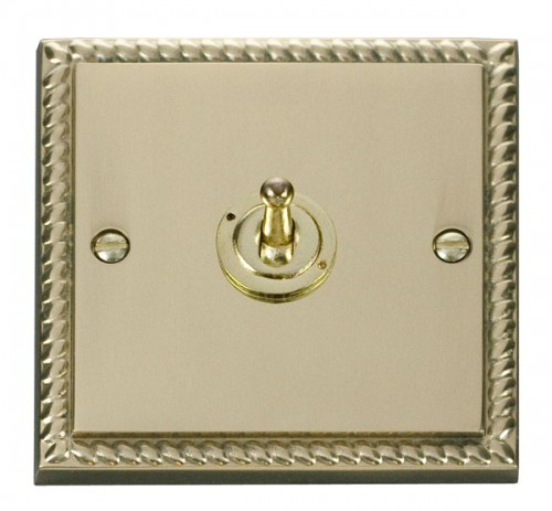 Scolmore Click Deco GCBR421 1 Gang 2 Way 10AX Toggle Switch
