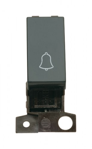 MD005BK 1 Way 10A Retractive Switch Module 'Bell' Black