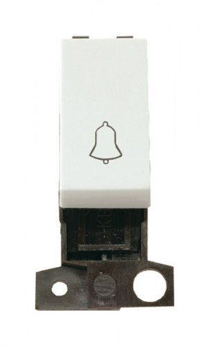 MD005WH 1 Way 10A Retractive Switch Module 'Bell' Click White