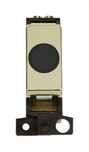 MD017BKBR 20A Ingot Flex Outlet Module Black Brass