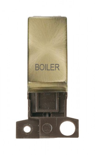 MD018ABBL 13A Resistive 10AX DP Switch Antique Brass Boiler