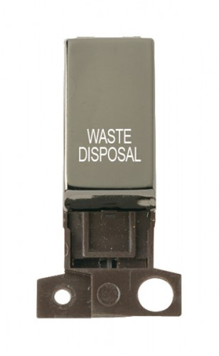 MD018BNWD 13A Resistive 10AX DP Switch Black Nickel Waste Disposal