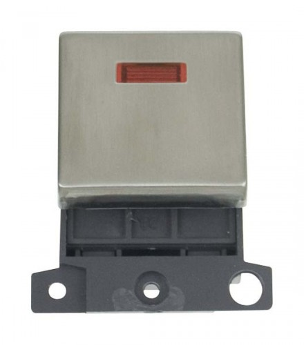 MD023SS 20A DP Ingot Switch With Neon Stainless Steel