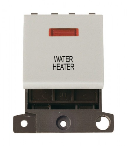 MD023WHWH 20A DP Switch With Neon White Water Heater