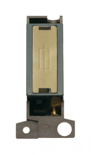 MD047BKSB 13A Fused Ingot FCU Module Black Satin Brass