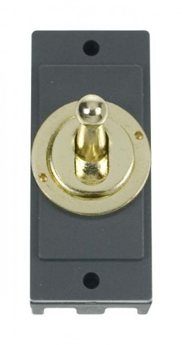 MD9125BR 10AX Intermediate Toggle Switch Module Brass