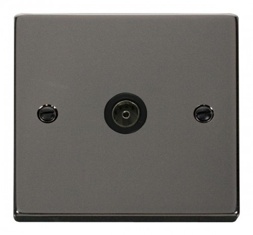Scolmore Click Deco VPBN065BK Single Coaxial Socket Outlet