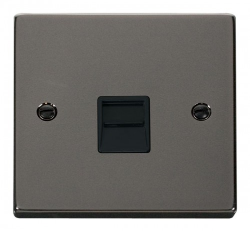 Scolmore Click Deco VPBN125BK Single Telephone Socket Outlet Secondary