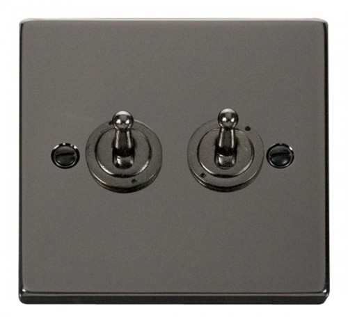 Scolmore Click Deco VPBN422 2 Gang 2 Way 10AX Toggle Switch