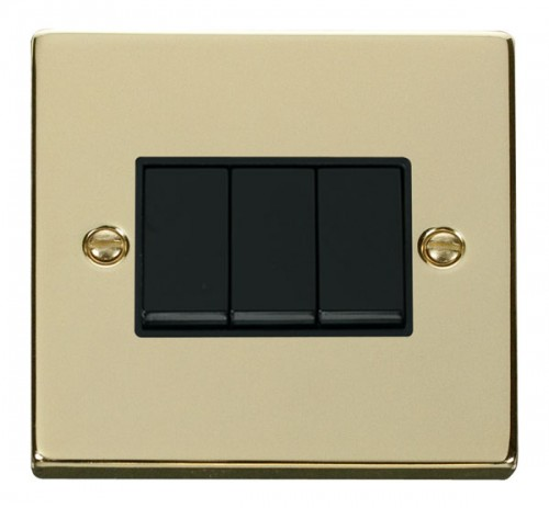 Vpbr013bk 3 Gang 2 Way 10ax Switch