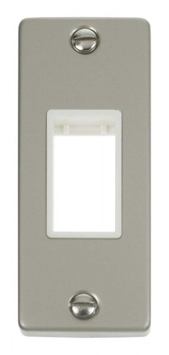 VPPN471WH Single Architrave Plate & Aperture Pearl Nickel